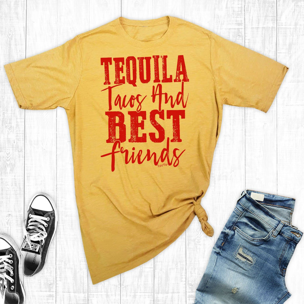 T-Shirts - Tequila, Tacos, And Best Friends