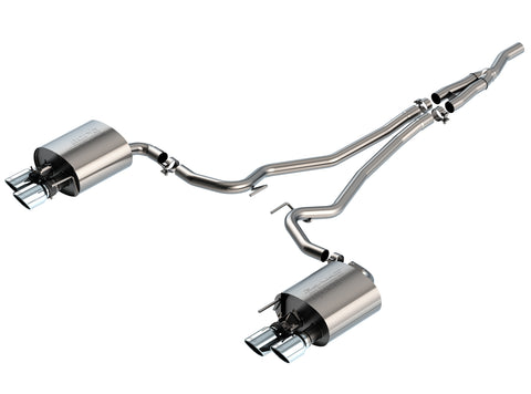 Borla S-Type Catback Exhaust for 2019+ Ford Ecoboost Mustang w/ Active Exhaust
