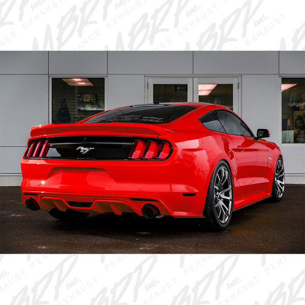 "MBRP 3"" Cat Back with Dual Split Rear, 4.5"" Tips Race Version for 2015+ Ford Mustang Ecoboost"