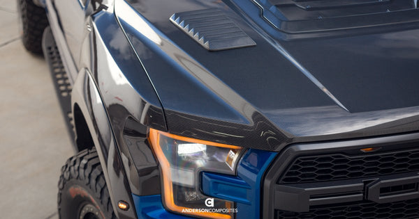 Anderson Composites Carbon Fiber Hood Vents for 2017+ Ford F-150 Raptor