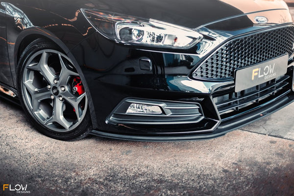 Flow Designs Front Splitter Extensions for 2015+ Ford Focus ST
