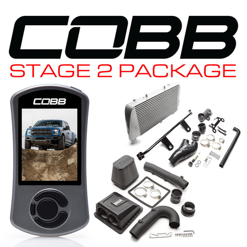 Cobb Tuning Silver Stage 2 Power Package for 2017+ Ford F-150 Raptor (Includes Free TunePlus, Inc Custom E-Tune)