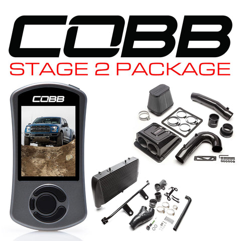 Cobb Tuning Stage 2 Redline Carbon Fiber Power Package (Black Intercooler) for 2017+ Ford F-150 Raptor