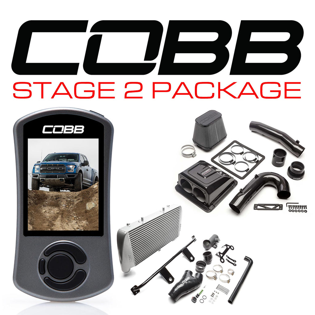Cobb Tuning Stage 2 Redline Carbon Fiber Power Package (Silver Intercooler) for 2017+ Ford F-150 Raptor