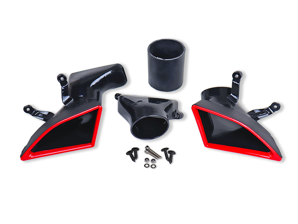 "*Exclusive* TunePlus, Inc / Velossa Tech ""Wang Dango!"" Dual Inlet Kit for 2016+ Ford Focus RS"