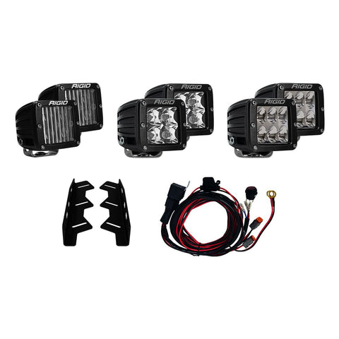 Rigid Industries Triple Fog Light Mount kit for 2017+ Ford F-150 Raptor