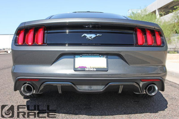 "Full-Race 3"" Cat-Back Exhaust System (RACE) for 2015+ Ford Mustang Ecoboost"