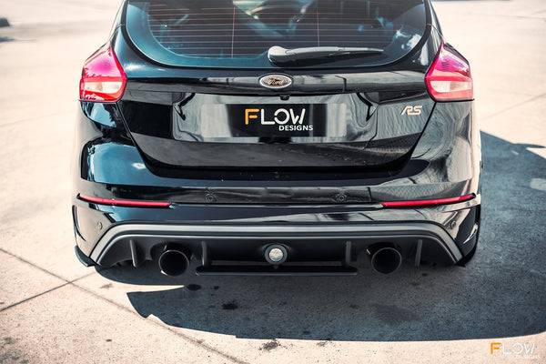 Flow Designs Rear Under Spoiler & Adjustable Fairing (2 Piece) for 2016+ Ford Focus RS