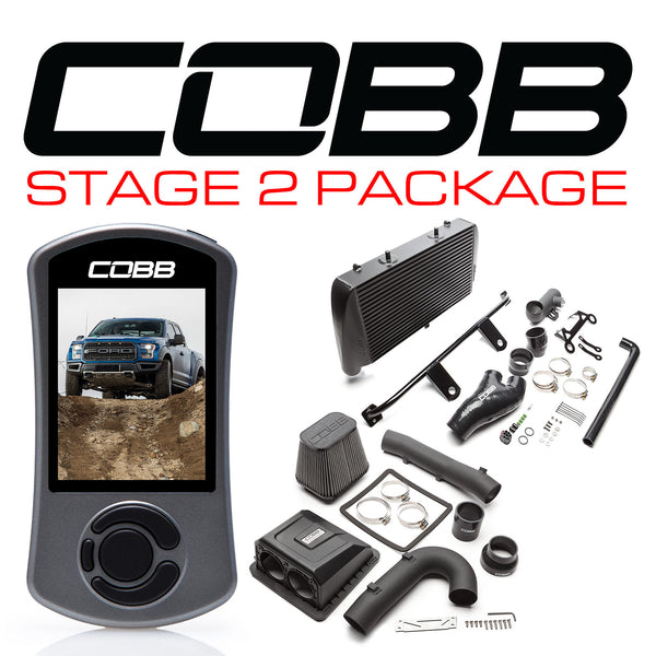 Cobb Tuning Black Stage 2 Power Package for 2017+ Ford F-150 Raptor (Includes Free TunePlus, Inc Custom E-tune)