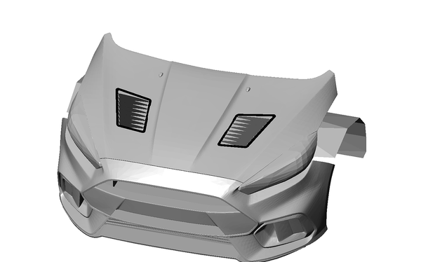Verus Hood Vent System for 2013+ Focus ST/RS