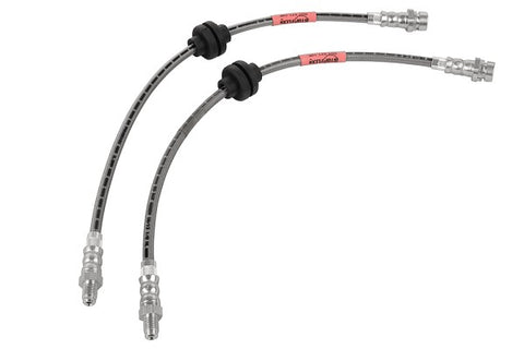 Steeda Stainless Braided Hose Rear Brake Line Set For 2013+ Ford Focus ST