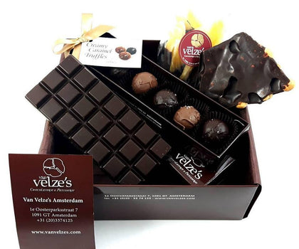 Chocolade relatiegeschenken, Kerstmis, Luxury Christmas Chocolate Hamper, Amsterdam