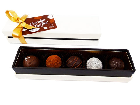 Chocolade truffels online Amsterdam, Gezouten caramel, Baileys truffles, Double chocolate, Champgne truffels, Corporate gifts Amsterdam