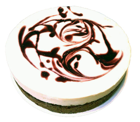 Cassis cheesecake 12 pers. Bezorgd in amsterdam, Blackberry cheesecake. Delivered in amsterdam Order online.