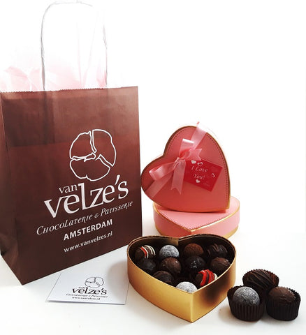 Valentine's Day Amsterdam, Valentijn bonbons, Valentijn chocolade Amsterdam, valentijnsdag, Send chocolates to your valentine with your special love note.