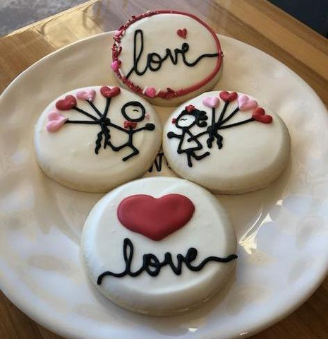 Personalized Valentine's Cookie Box