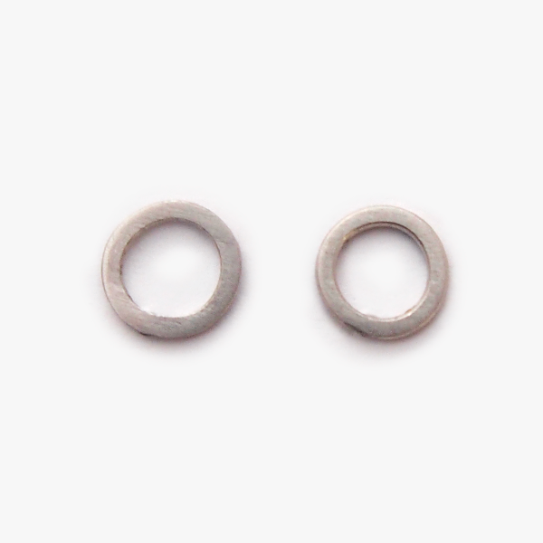 Simple things pendientes circulo tiny plata & oro