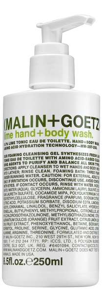 Malin + Goetz | Lime Hand + Body Wash