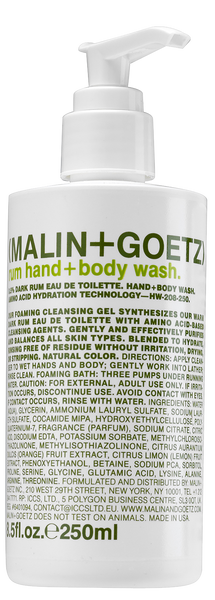 Malin + Goetz | Rum Hand + Body Wash