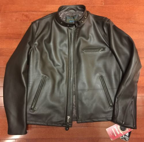 SCHOTT USA 641HH Brown Italian Horsehide PERFECTO CAFE RACER JACKET SZ 38 NEW!