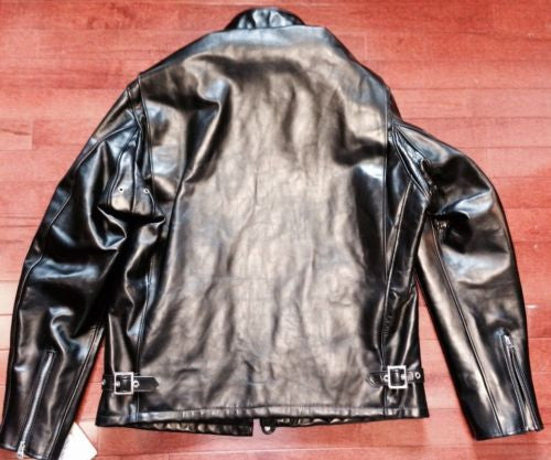 SCHOTT USA 641 HH HORSEHIDE PERFECTO CAFE RACER JACKET BLACK SIZE 38 NEW 641HH