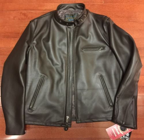 SCHOTT USA 641HH Brown Italian Horsehide PERFECTO CAFE RACER JACKET SZ 42 NEW!
