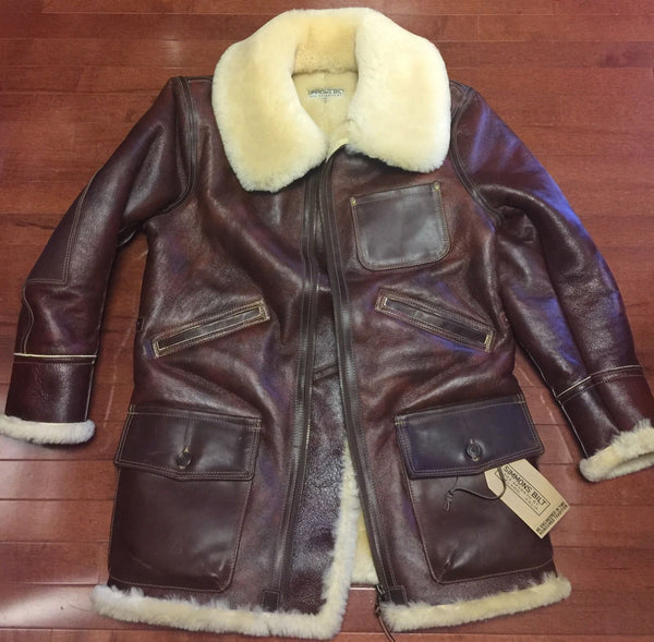 RJL Ltd REDFORD Jacket By Simmons Bilt Leather Horween Horsehide & Sheepskin SPECIAL ORDER