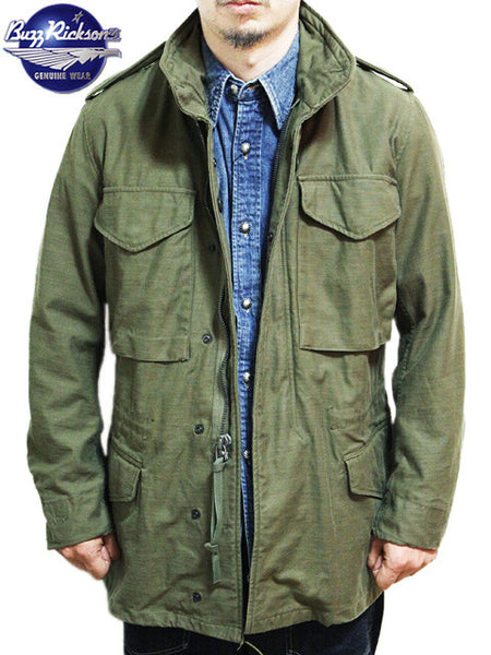 NEW BUZZ RICKSON M65 USA VIETNAM ARMY M-65 JACKET OLIVE DRAB GREEN
