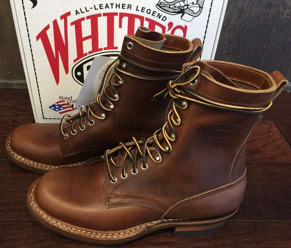 "White's Farmer Rancher 8"" Horween Chromexcel Boot in British Tan with  Mini Vibram sole ** Limited edition"