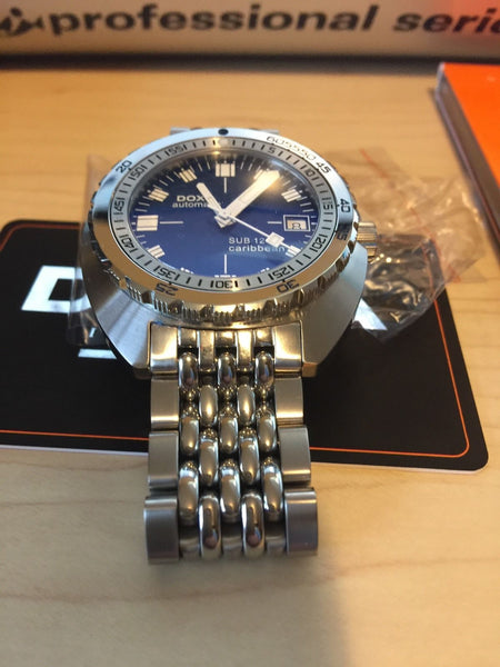 LNIB DOXA SUB 1200T MK II Caribbean Blue under warranty SWISS Diving watch