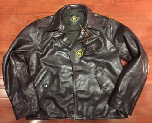 RJL LTD Fortune-hunter Jacket By Simmons Bilt Leather Coffee Brown Horsehide Handmade SZ 44