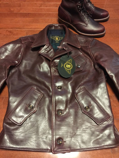 RJL Limited Fortune-hunter Jacket By Simmons Bilt Leather Cordovan Horsehide Handmade