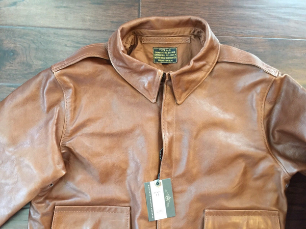 Eastman Leather Horsehide USAAF A-2 Flying Jacket, Roughwear Co. 1401P