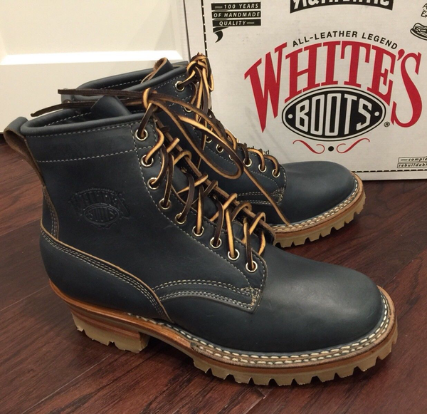 Limited Edition White's Boots Smoke Jumper Elite Navy Horween