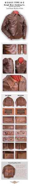 Eastman Leather Clothing Company Horsehide USAAF A-2 Flying Jacket, Roughwear Co. 27752