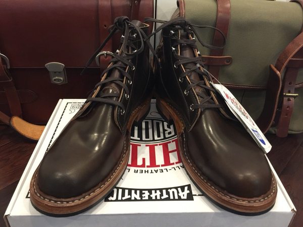 White's Cigar Brown Horween Shell Cordovan Horsehide Semi-Dress Boots Limited Edition