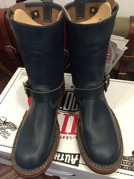Limited Edition White's Nomad Engineer Boots in NAVY BLUE CXL Horween Chromexcel