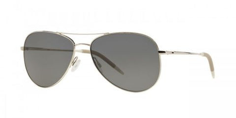 Oliver Peoples 2016 Kannon Aviator silver with Graphite vfx plus Polarized lens