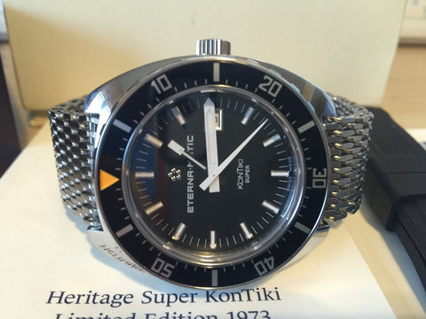 Eterna Dive Watch Heritage Super KonTiki 1973 Lim. Ed. Automatic Swiss made