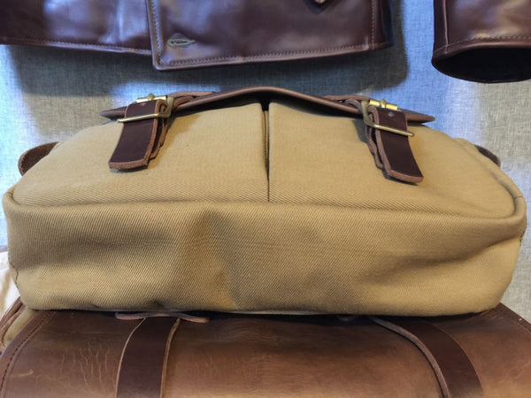 RJL LTD FIELD BAG Type II By Vermilyea Pelle, Horween Bison, Steerhide Horsehide Handmade