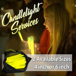 Short 4 inch Glowsticks for Candle Light Services - Bag of 50 pieces - flashingo