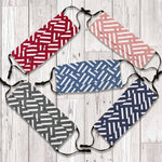 Three Layer Cotton  Facemasks - Pack of 5 Stripe Pattern - flashingo