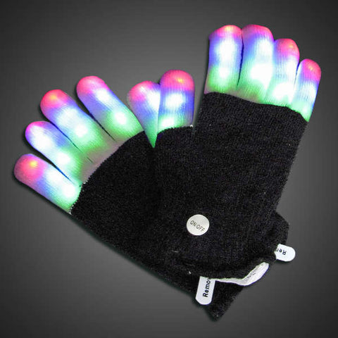 LED Gloves with Light Up Fingers - flashingo