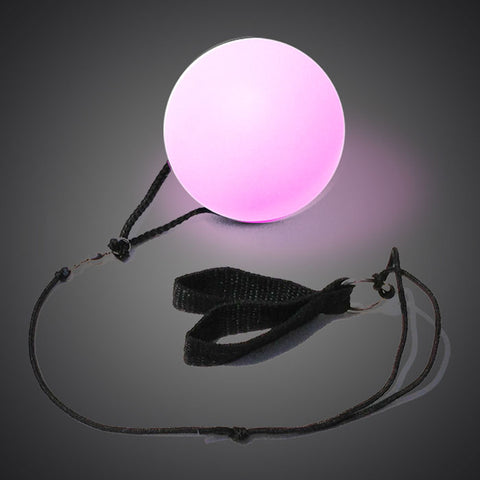 Soft LED Poi Spinning Ball - flashingo