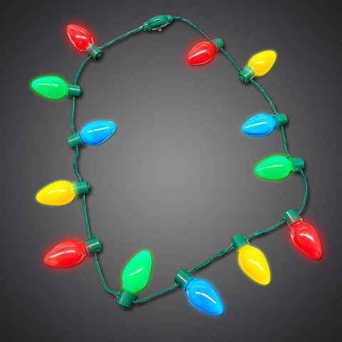 LED Christmas Bulb Necklace - flashingo