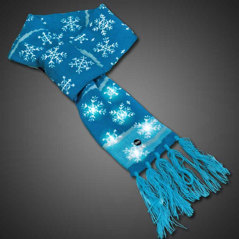 LED Light Up Snowflake Scarf - flashingo