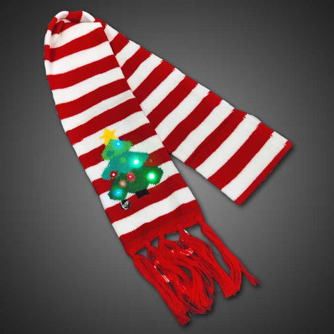 LED Light Up Christmas Tree Scarf - flashingo