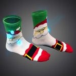LED Light Up Christmas Santa Socks - flashingo