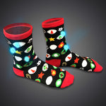 LED Light Up Christmas Ornaments Socks - flashingo
