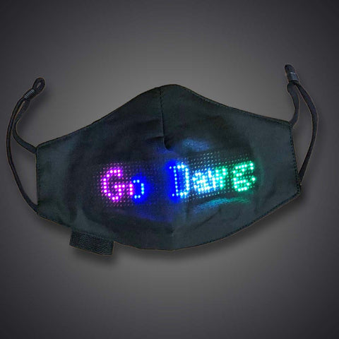 Programmable App Controlled LED Face Mask - flashingo